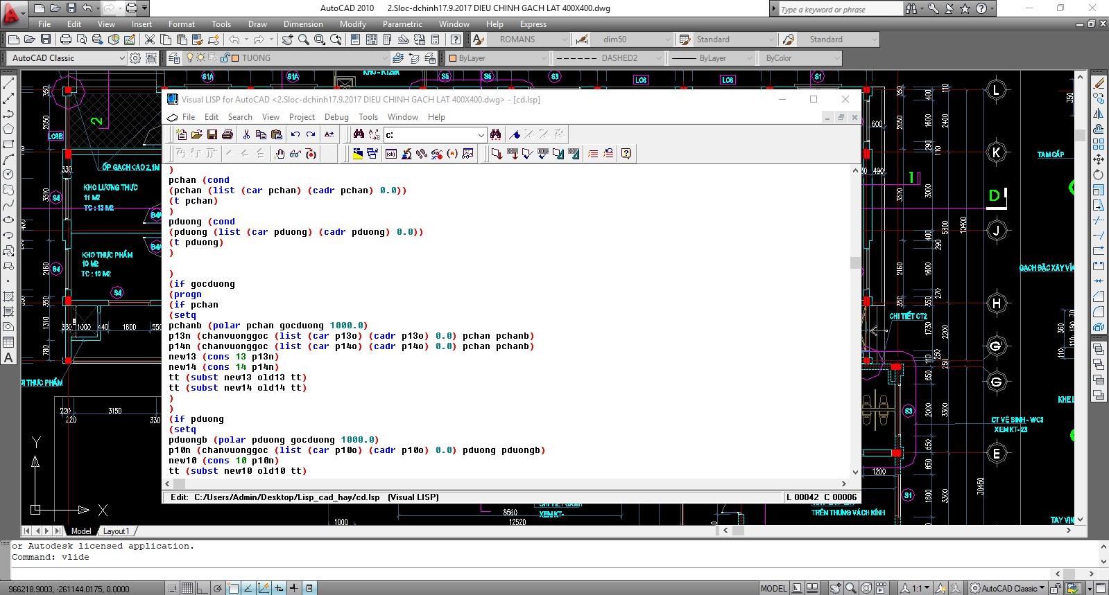 Autolisp: Hướng dẫn cài đặt và các lệnh liên quan đến Lisp