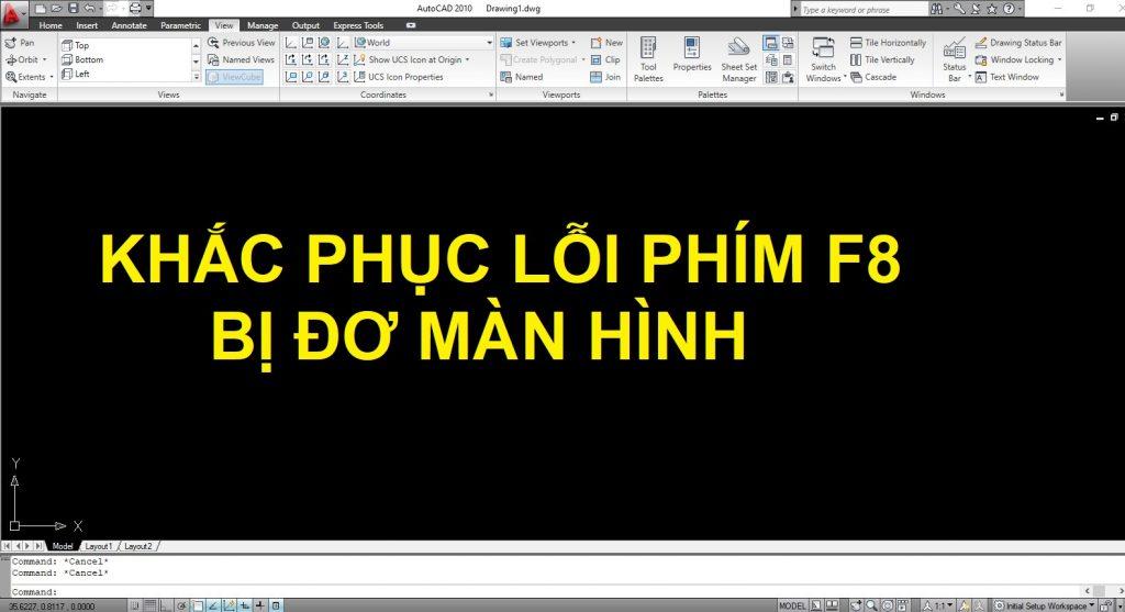 Cách khắc phục lỗi ấn F8 khi vẽ Autocad bị đơ màn hình 100%
