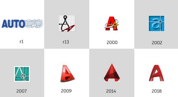 Logo Autocad qua các thời kỳ phát triển