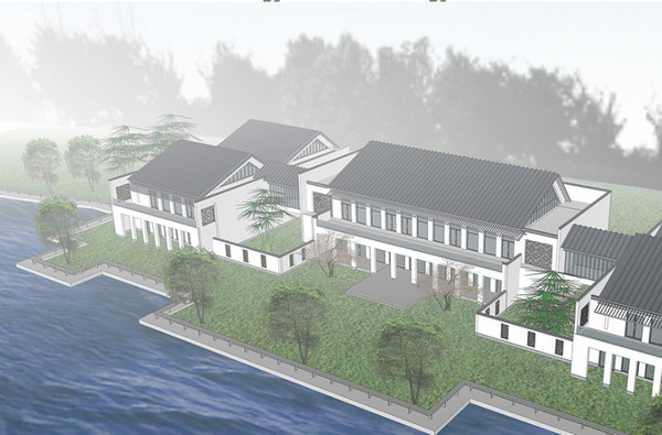 Mẫu biệt thự ven sông thường thấy trong các khu đô thị lớn