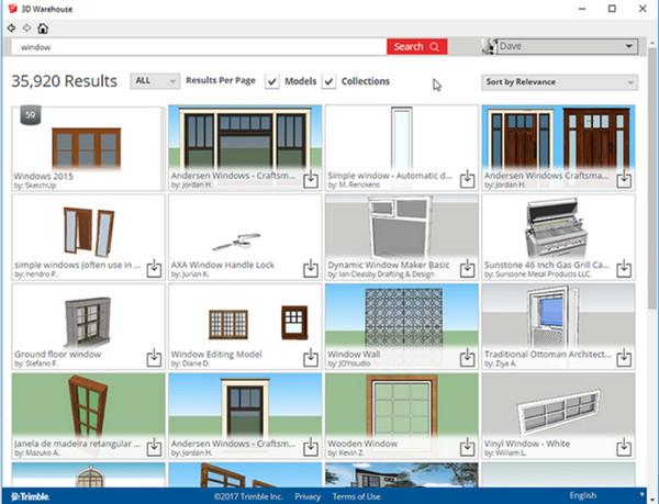 Cộng đồng 3D Warehouse của Google tạo ra