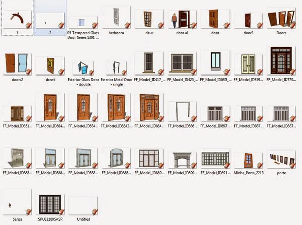 Thư viện sketchup cửa đa dạng với hơn 100 mẫu cửa