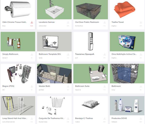 Thư viện sketchup thiết bị vệ sinh