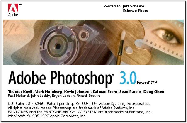 Hình ảnh phiên bản photoshop 3.0
