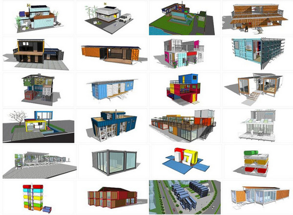 Thư viện Sketchup container
